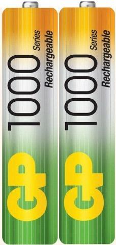 pilas baterias gp recargables pack x2 aaa 1000mah 1094
