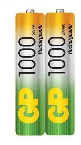 pilas baterias gp recargables pack x2 aaa 1000mah a027