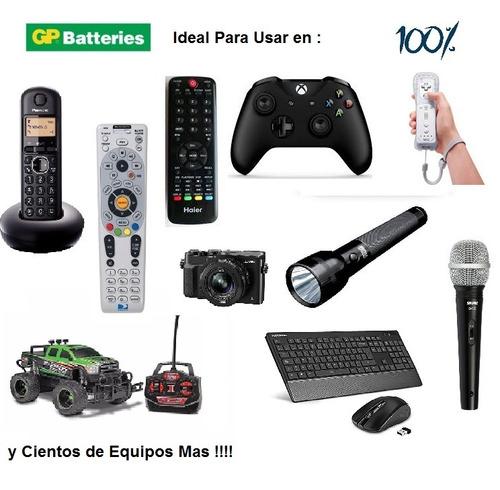 pilas baterias gp recargables pack x4 aaa 400mah p280