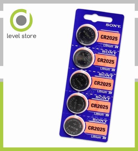 pilas boton sony cr-2025 litio 3v x blister de 05 unidad