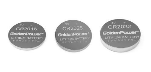 pilas cr2032  pack x 2 unidades golden power ml center