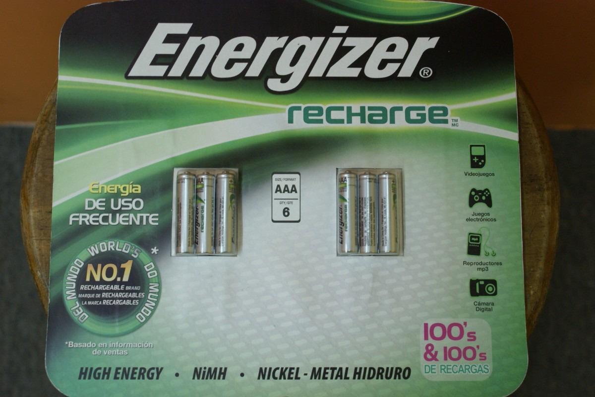 Pilas energizer recargables 6 aaa 900 mah en - Pilas recargables aaa ...