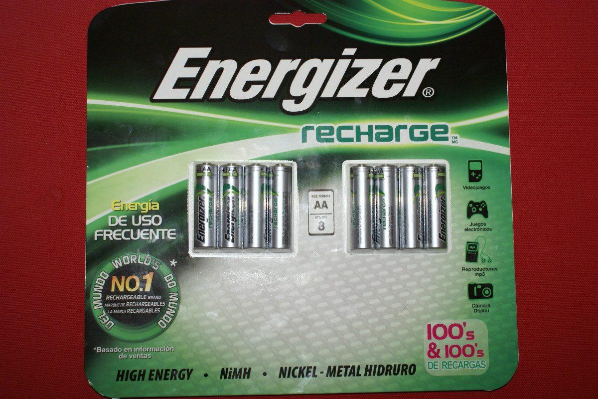 Pilas energizer recargables 8 pilas aa 2000 mah nimh hlw for Pilas recargables aa