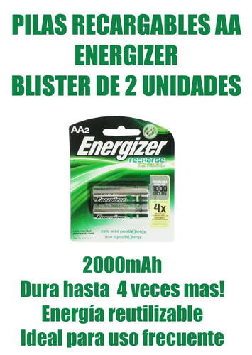 pilas energizer recargables