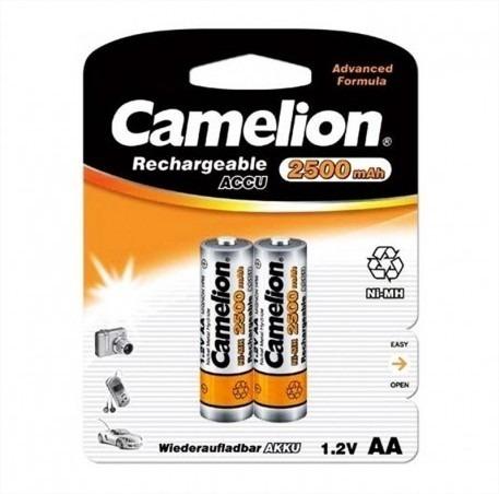 pilas recargable camelion aa 1.2 v 2500 mah ni- mh (1par)