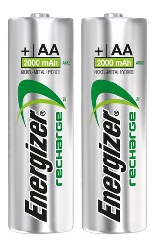 pilas recargables bateria energizer aa x 2