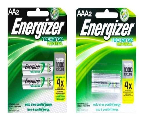 pilas recargables energizer 100% original aa y aaa