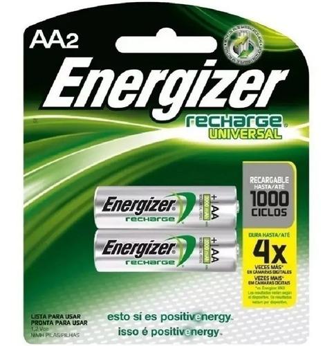 pilas recargables energizer aa 2000mah blister x 2 unidades