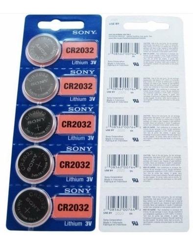 pilas sony 3v cr2032 boton por 5 unidades original!!