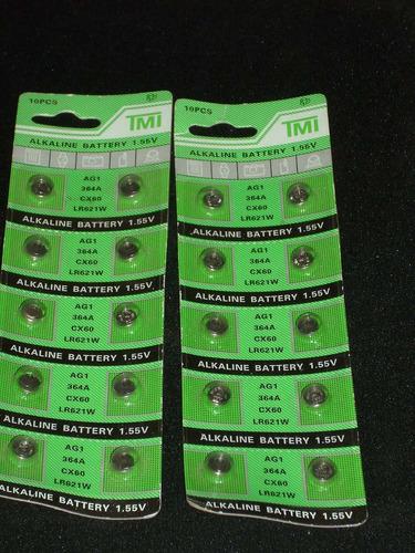 Pilas tipo boton ag1 blister nuevo con 10 unidades - Pilas boton tipos ...