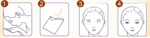 pilaten mascarilla cristales parches de colágeno para ojos