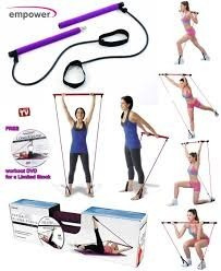 pilates empower gym barra y bandas elasticas mas dvd