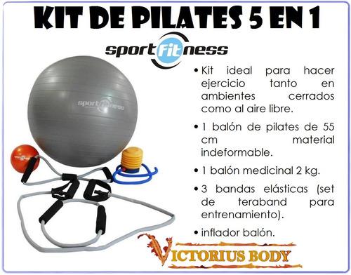 pilates kit balones teratubos terapias gimnasia tonificación