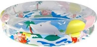pileta 2 aros inflable 122cm x 20cm bestway animales marinos