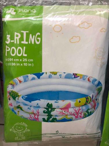 pileta 3 anillos 91 cm diámetro jilong july toys