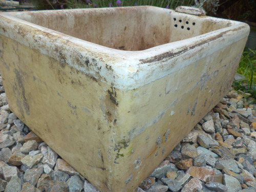 pileta  bacha antigua de gress inglesa