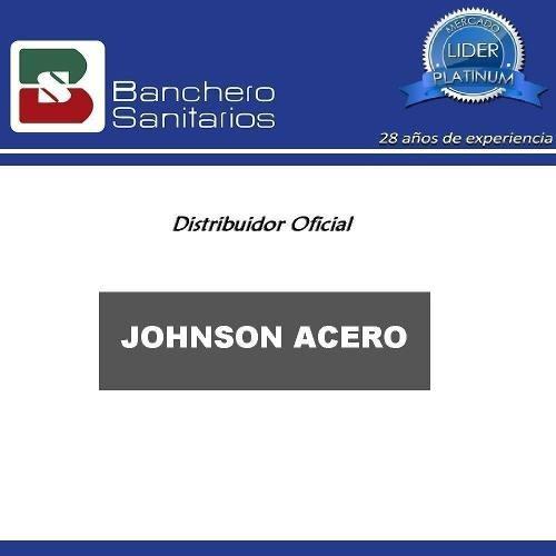 pileta bacha doble de cocina johnson r63/18f acero inox. cta