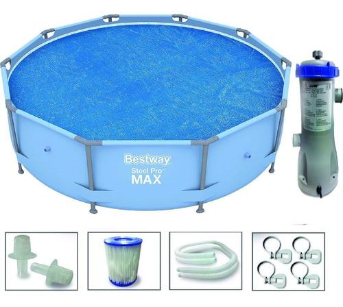 pileta bestway de lona 305x76 bomba + filtro + reforzada