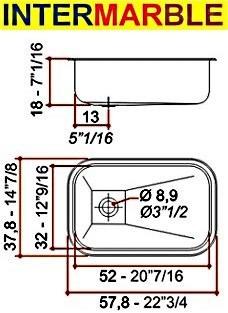 pileta cocina johnson zn52 bacha encastrar 52x32x18 acer 304