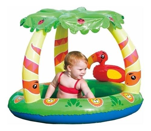 pileta con techo protección uv selva bebe inflable pileta