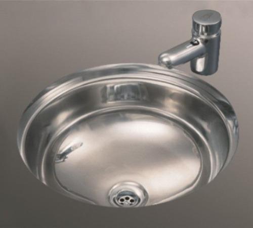 pileta de acero baño johnson o300l lavatorio redonda