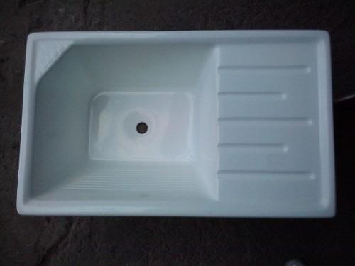 pileta de lavadero de fibra de vidrio y marmolina 1m x 0,48