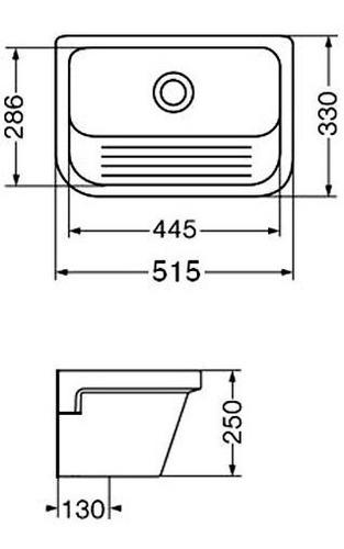 pileta de lavadero ferrum con fregadero blanco plk