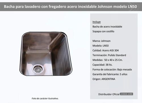 pileta de lavadero johnson acero ln50 bacha oferta!