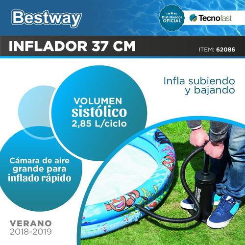 pileta de lona bestway inflable circular 305 x 76 + inflador