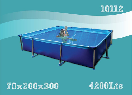pileta de lona olimpia linea azul grande 2.00 x 3.00m