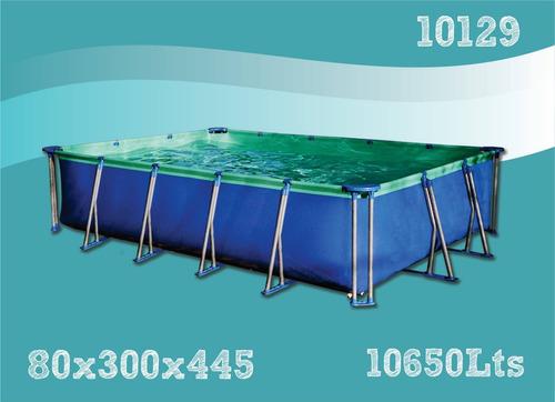 pileta de lona olimpia linea premium super 10650 3.00 x 4.45