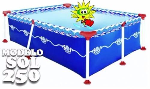pileta de lona sol de verano 250 2,50x1,65x0,65 cap.2.700lts