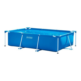 Pileta Estructural Azul Intex 28272 Rectangular De 3m De Largo X 2m De Ancho