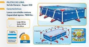 pileta estructural sol de verano 450