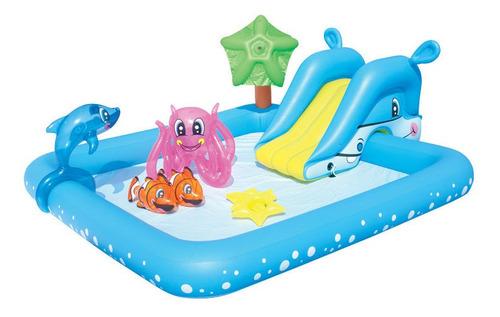 pileta inflable juego acuario niños chicos bestway