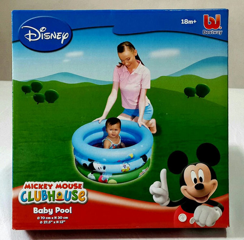 pileta inflable mickey mousse 3 anillos bestway 70 cm x 30