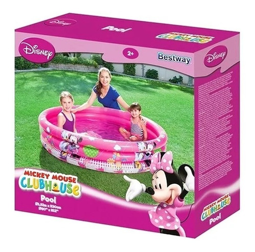 pileta inflable minnie 102x25 cm 3 tubos