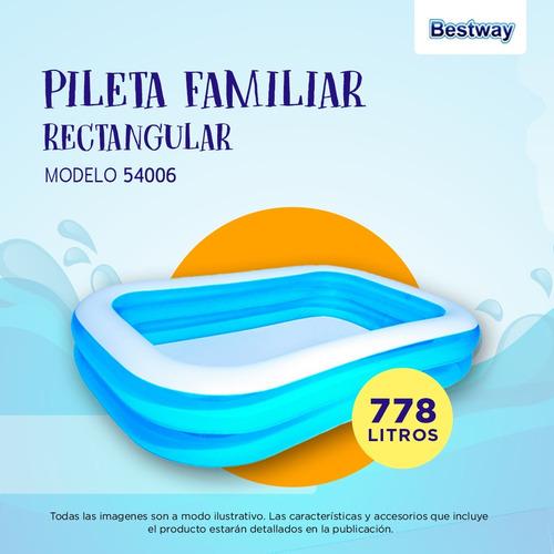pileta inflable rectangular 54006 bestway 262 x175x51 pc