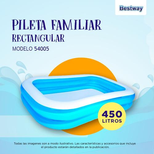 pileta inflable rectangular bestway 201 x 150 x 51 pc 54005