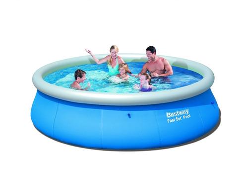 pileta inflable redonda 396x84 bestway piscina +bomba filtro