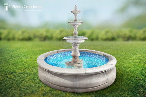 pileta o fuente de agua grande full