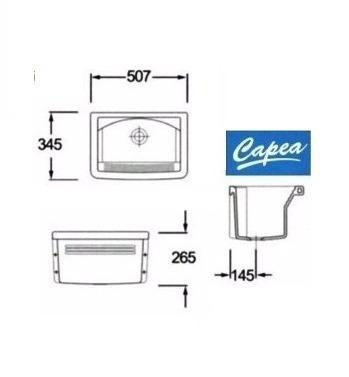 pileta para lavadero roca capea 507x345 mm de losa