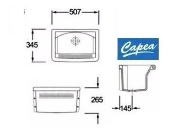 pileta para lavadero roca capea 507x345 mm de loza
