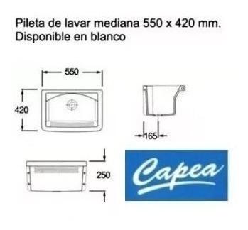 pileta para lavadero roca capea 555x420 mm de losa