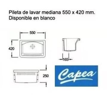 pileta para lavadero roca capea 555x420 mm de losa p