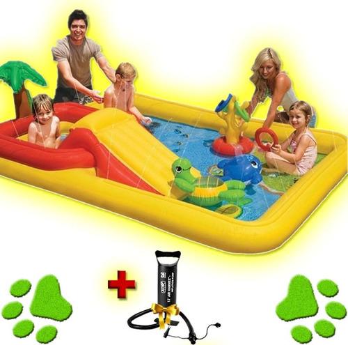 pileta pelotero centro de juegos inflable + inflador oferta