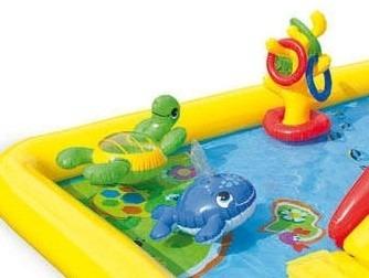 pileta pelotero inflable intex  muñecos tobogan ducha juegos