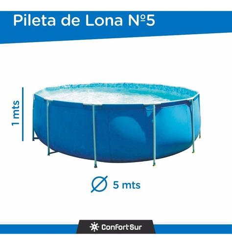 pileta redonda de lona 5 mts diametro 1 metro alto envio **8