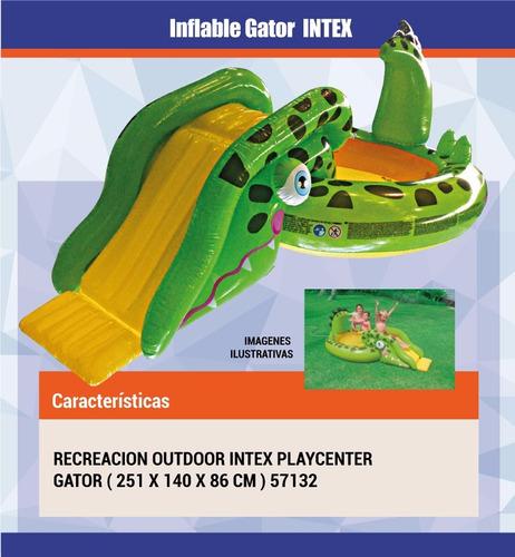 pileta tobogan inflable intex gator cocodrilo (57132)