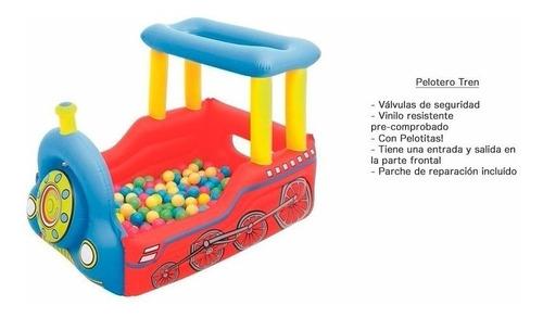 pileta tren inflable bestway corralito pelotero +50 pelotas